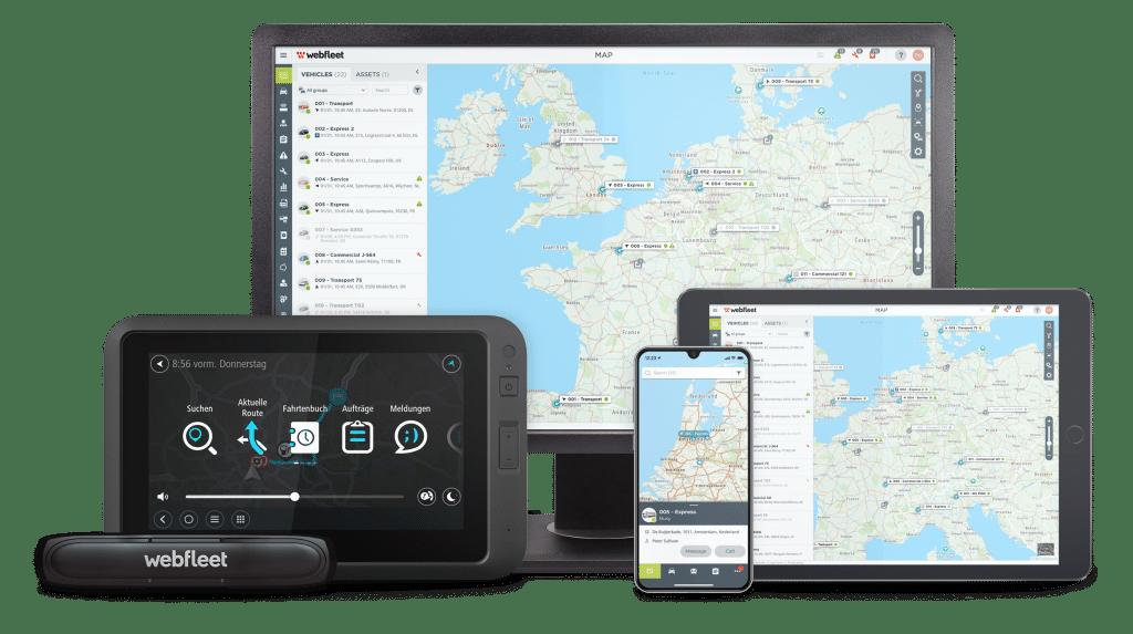 WEBFLEET® innovative SaaS Telemaitkplattform mit LINK 740 und PRO 8375