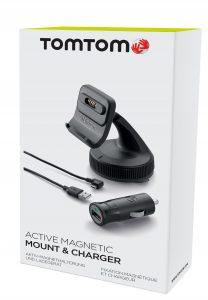TomTom Click&Go Windschutzscheibenhalterung mit Magnetischer Navigationshalterung