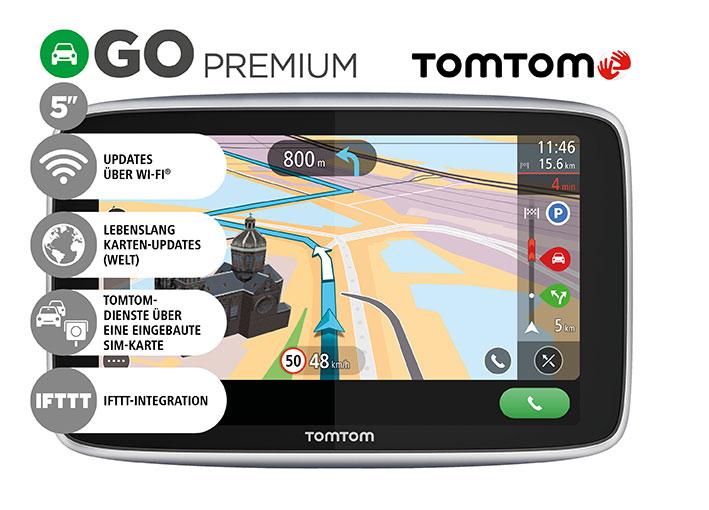 "# 10314 # 1PL5.002.30 TomTom GO Premium World 5"" Navigationsgerät"
