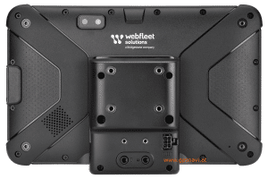 Webfleet Solutions Fahrerterminal PRO 8475 u. PRO 8475 TRUCK Rückseite mit Halterung