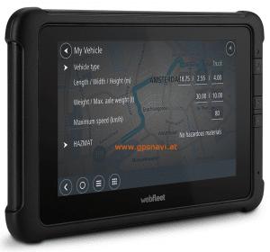 Webfleet Solutions Fahrerterminal mit LKW-Navigation PRO 8475 TRUCK seitllich