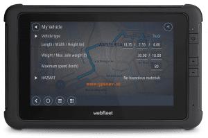 Webfleet Solutions Fahrerterminal mit LKW-Navigation PRO 8475 TRUCK Vorderseite