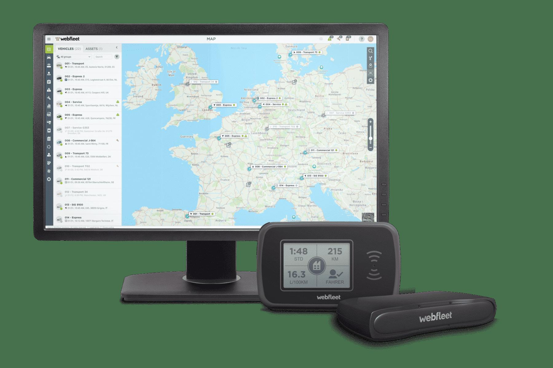 Webfleet Solutions LINK 740 und PRO 2020 2,5