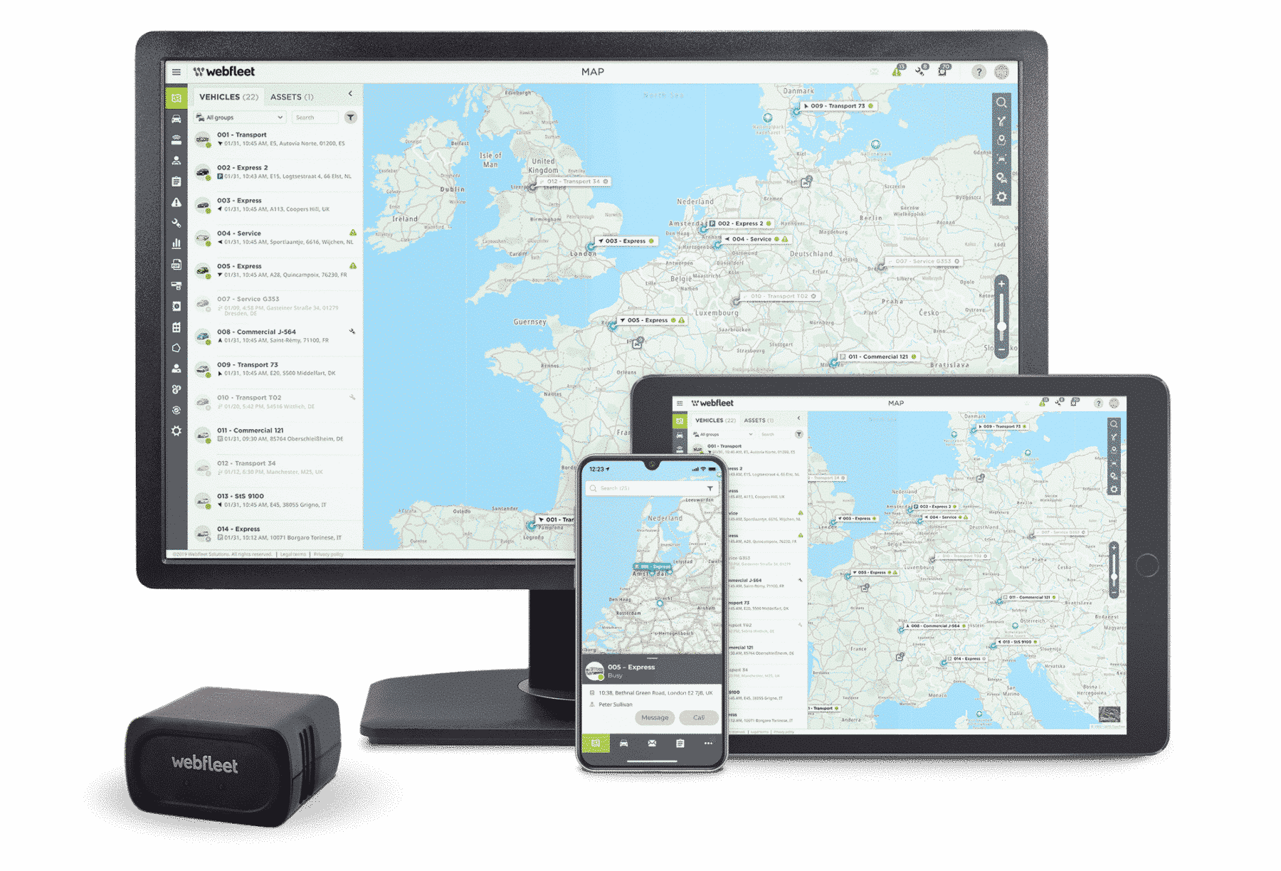 WEBFLEET® SaaS Telematiklösung und WEBFLEET Mobile App